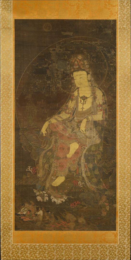 Авалокитешвара под луной. Корейская школа, XIV в.