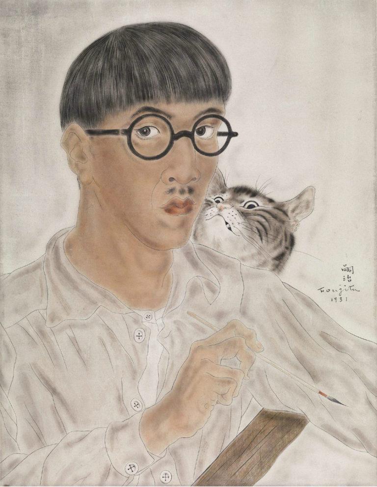 Автопортрет с котом. 1931