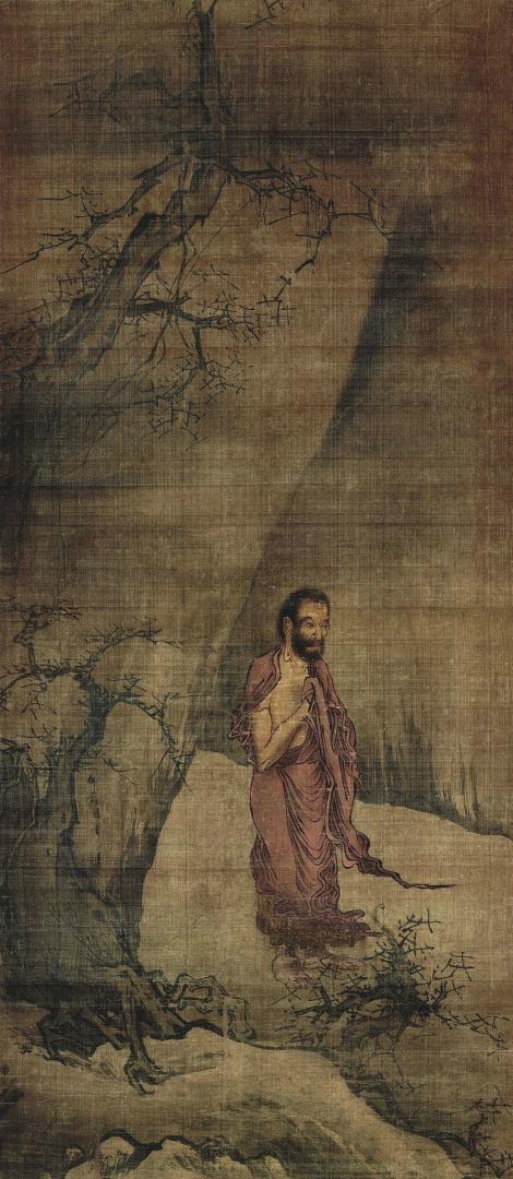 Будда, спускающийся с горы. Китай, XIII в.