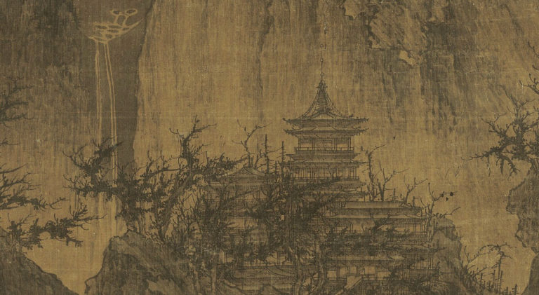 Буддийский храм в горах. Фрагмент. Храм на вершине. X в.
