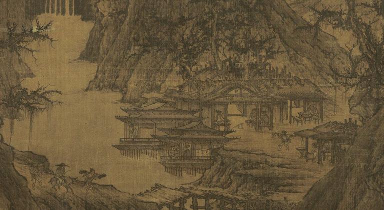 Буддийский храм в горах. Фрагмент. Постоялый двор. X в.