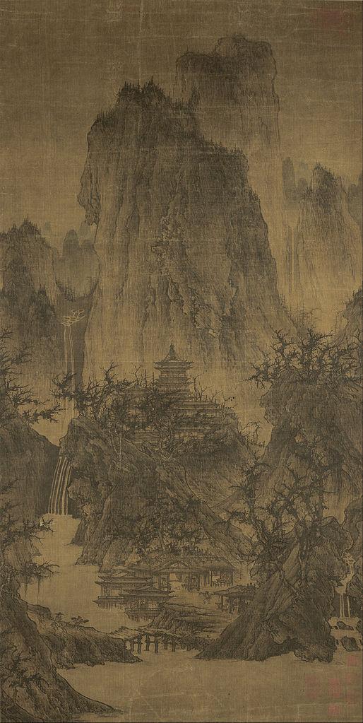 Буддийский храм в горах. X в.