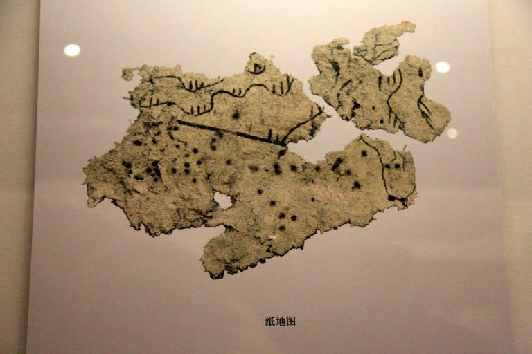 Древнейший в мире образец бумаги. Ок. 179 г. до н. э.