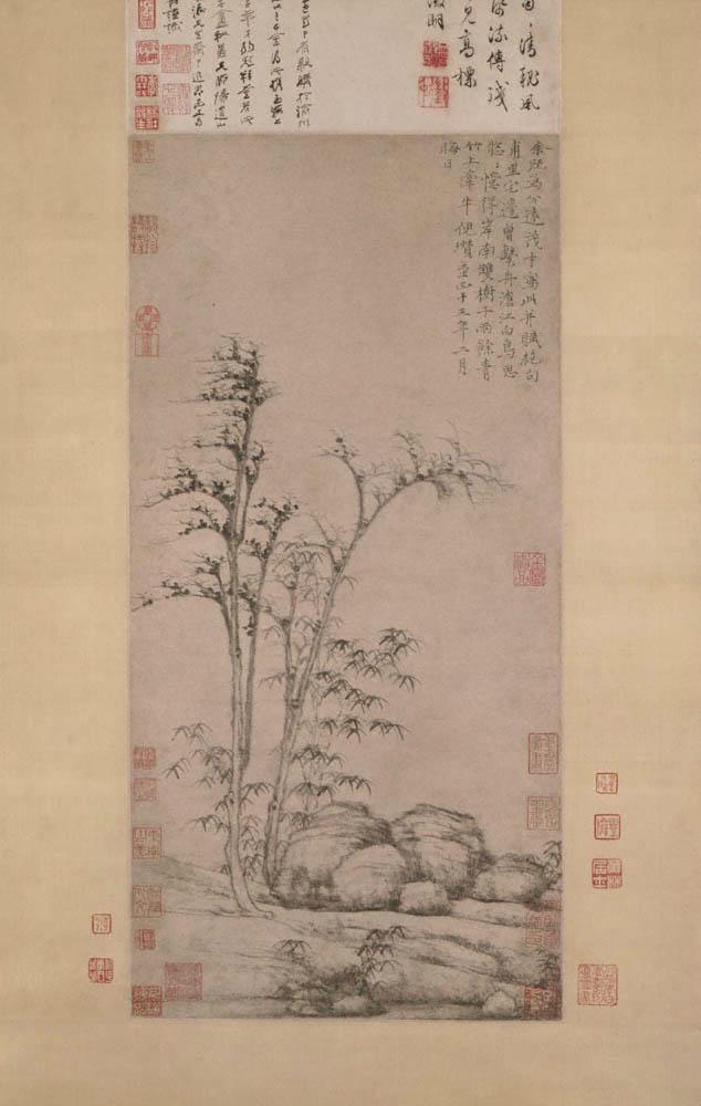 Двойные деревья на южном берегу. Китай, 1353