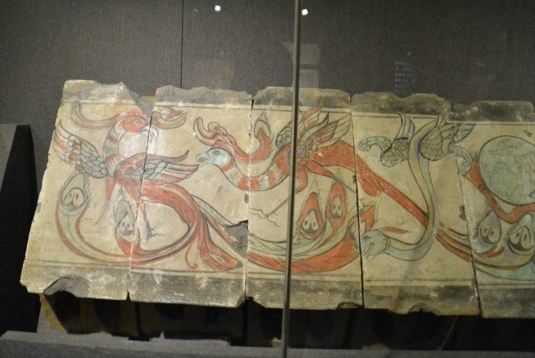 Фениксы. Левая часть живописного фриза. Западная Хань (206 до н.э. – 9 н.э.)