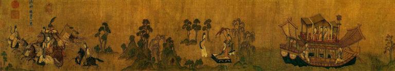Фея реки Ло. Фрагмент. Копия периода Сун (960–1279) со свитка VI в. или с оригинала