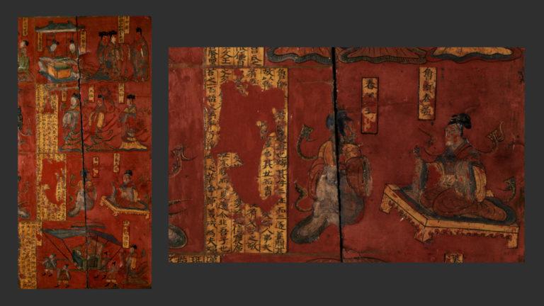 Фрагмент ширмы из гробницы аристократа по имени Сыма Цзиньлун. 484 н.э.