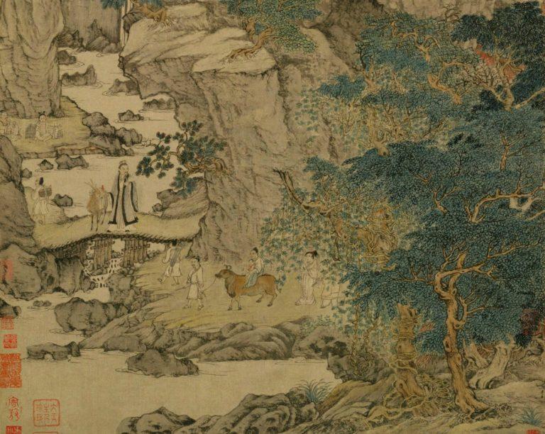 Гэ Чжичуань перевозит своё жилище. Фрагмент. 1360-е
