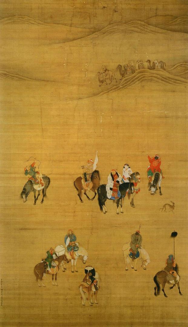 Хубилай-хан на охоте в пустыне Гоби. 1280