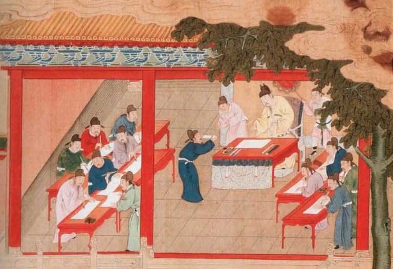 Императорский экзамен в Кайфыне. Фрагмент. Династия Сун (960–1279)