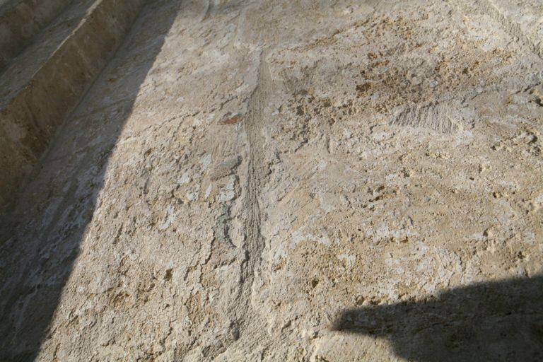 Камень западного прясла южного фасада Спасо-Преображенского собора