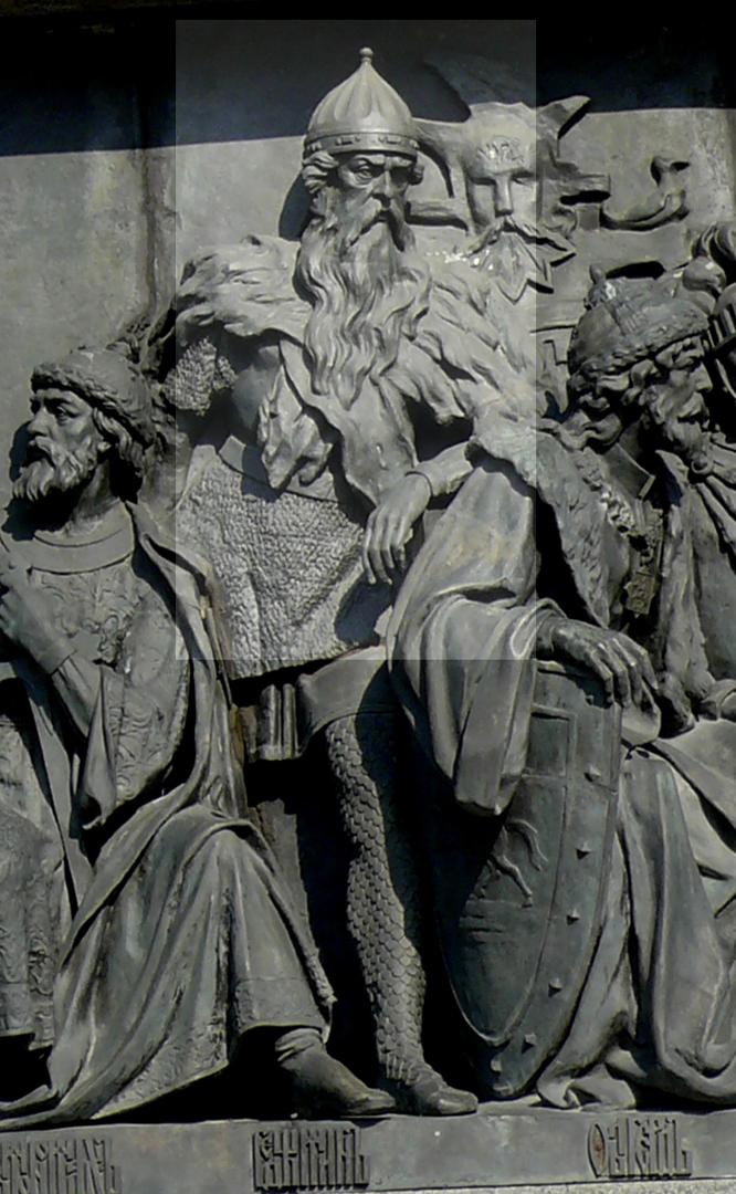 Князь Гедимин на Памятнике «1000-летие России» в Великом Новгороде