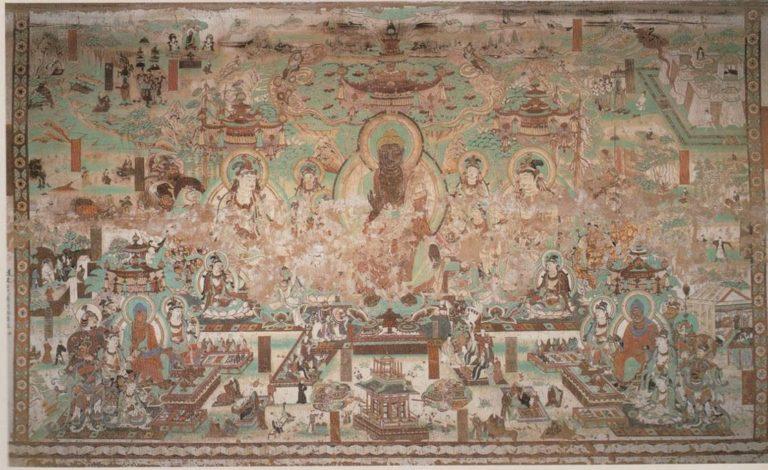 Композиция «Майтрейя-сутра». Религиозная монументальная живопись. Период Тан (618–906). VIII в.