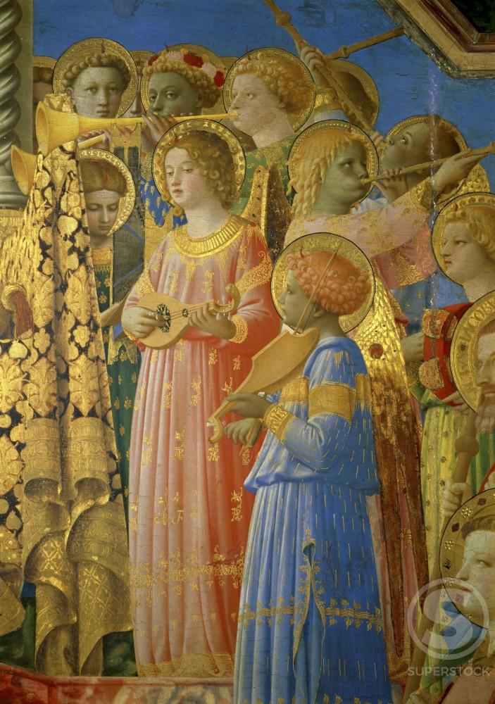 Коронование Девы Марии. Фрагмент. Ок. 1432