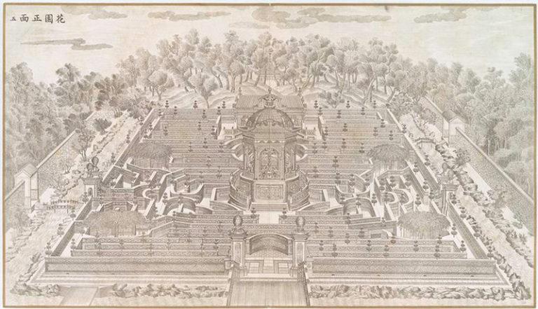 Лабиринт в саду Ихэ-Юань. 1786