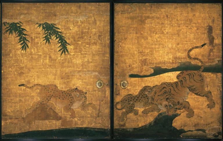 Леопарды и тигры. Живопись на фусума. XVII в.