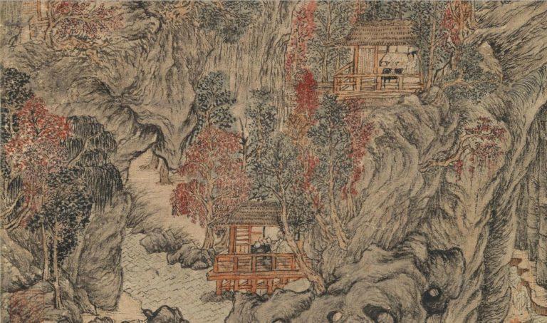 Лесная пещера в Цзюйцюе. Фрагмент. 1378