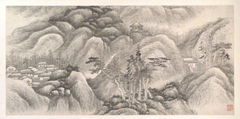 Лист из альбома «Пейзажи двенадцати месяцев». Ок. 1685