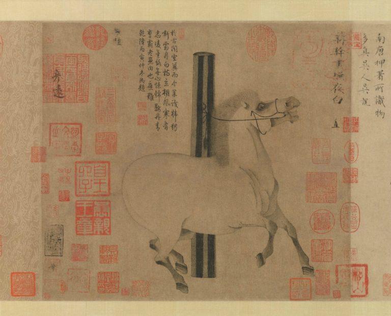 Лошадь «Молния в ночи». Фрагмент. Китай, ок. 750