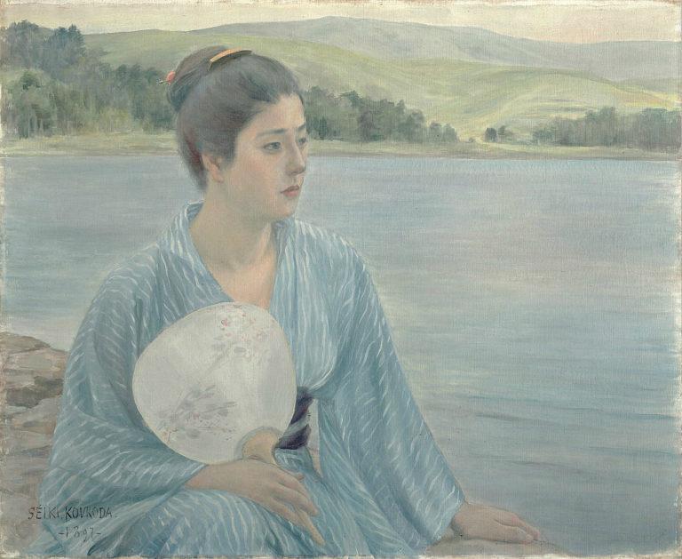 На берегу озера. 1897