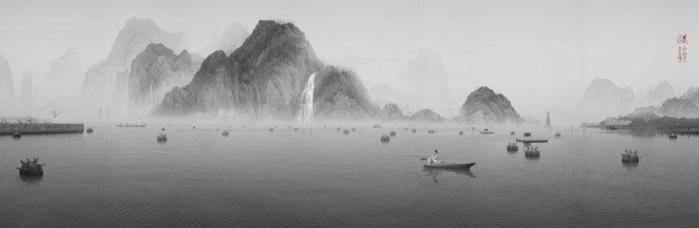 Одинокий рыбак. Из серии «Колония цветка персика». 2011