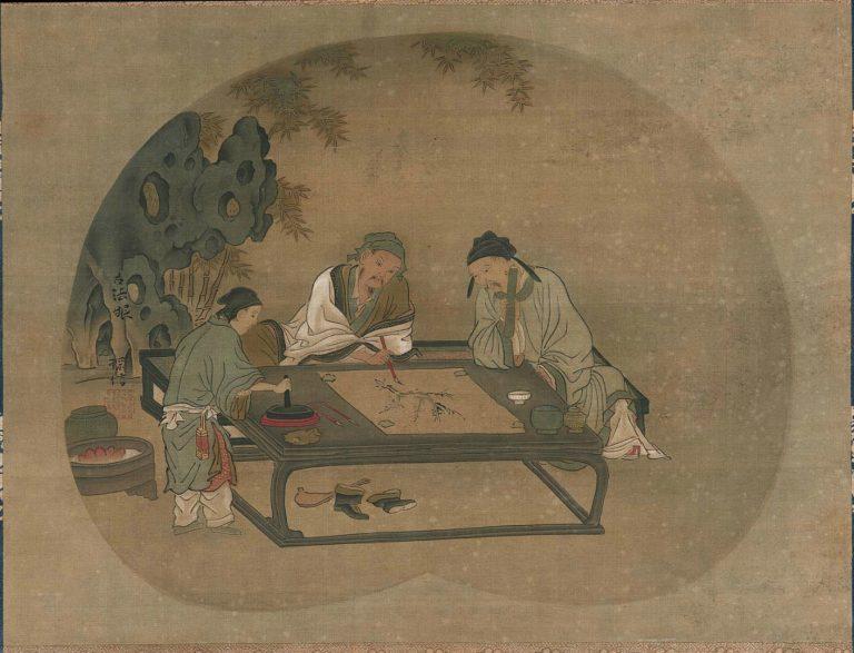 Одно из четырех благородных развлечений. Япония, XVII–XVIII вв.