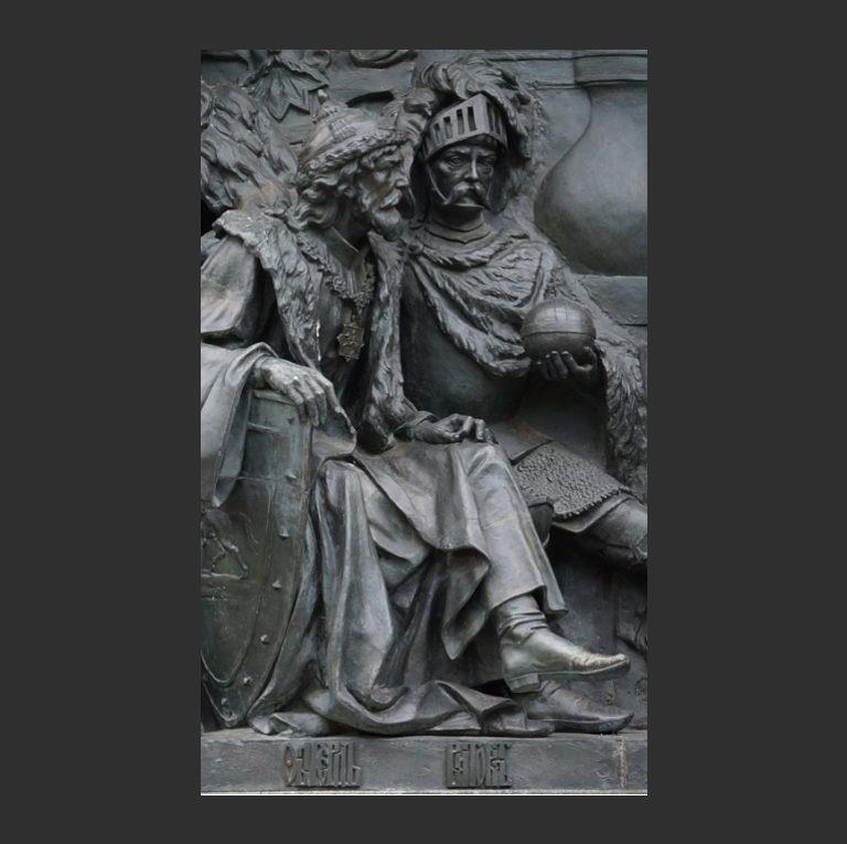 Ольгерд и Витовт. Памятник «Тысячелетие России», Новгород. 1862