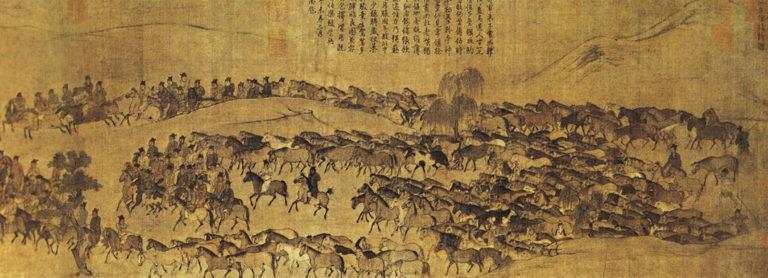 Пасущиеся кони. Фрагмент. Правая часть. Ок. 1085