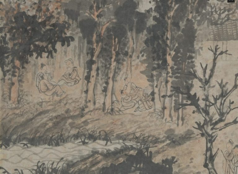 Пирушка в осенних лесах. Фрагмент свитка. Ок. 1702