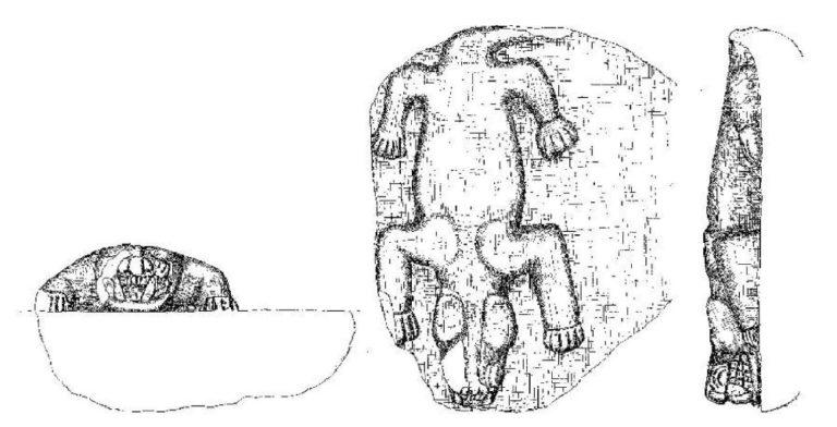 Плита с рельефом животного, обнаруженная крестьянами в Гёбекли-Тепе