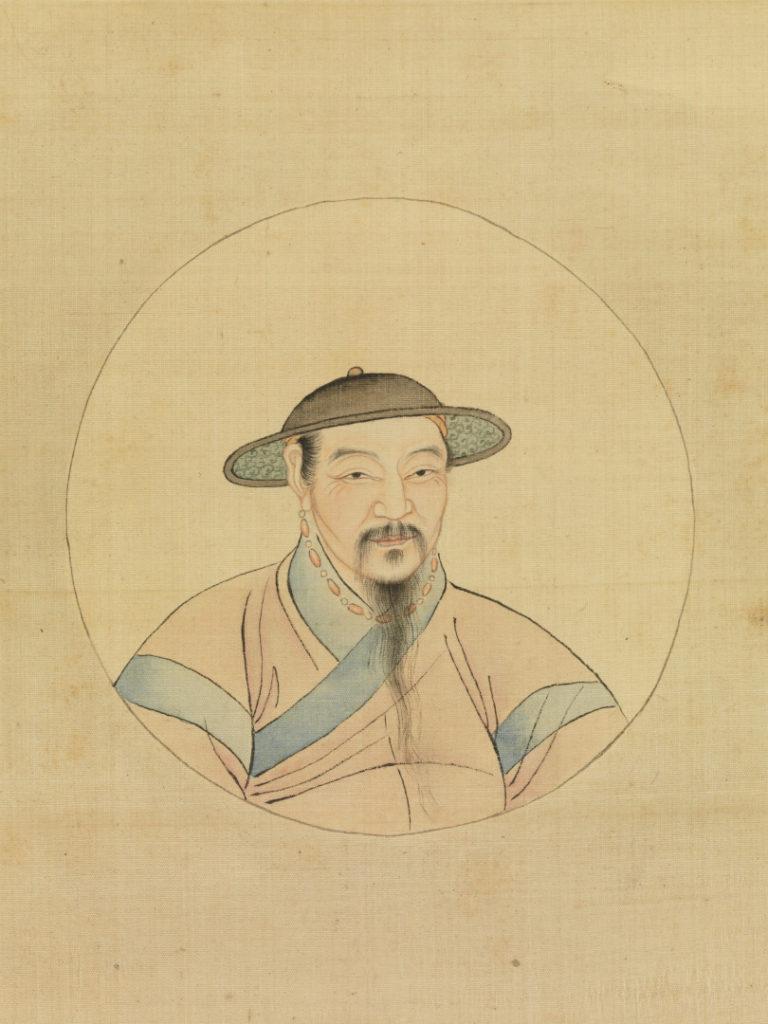 Портрет Чжао Мэнфу. Фрагмент свитка. Копия XIX в.