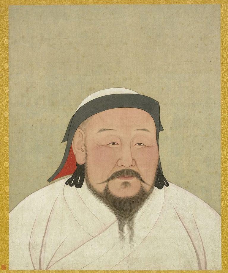 Портрет хана Хубилая, внука Чингисхана, первого императора династии Юань (1271–1294). 1294