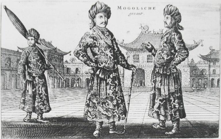 Послы могольского падишаха в Пекине. 1666