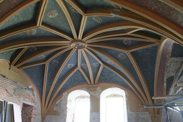 Потолок Владычной палаты после реставрации