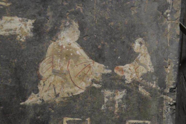 Приготовление и сервировка еды: госпожа и служанка. Роспись из гробницы. Период Синь, (9–25 н.э.)