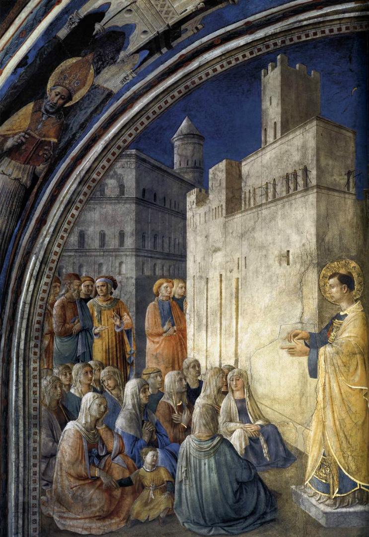 Проповедь св. Стефана. 1447–1448