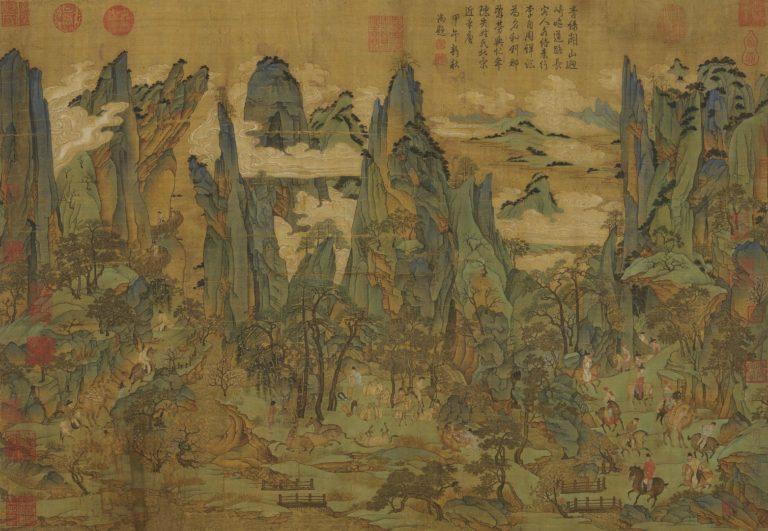 Путешествие Минхуана в Шу. Сунская копия картины, созданной ок. 800 г.
