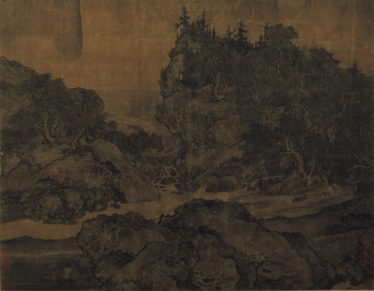 Путники среди рек и гор. Фрагмент. X–XI вв.