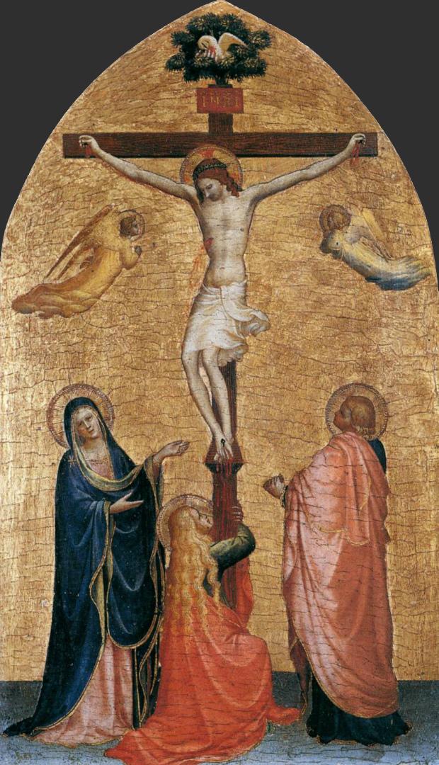 Распятие с Девой Марией, Иоанном Богословом и Марией Магдалиной. 1419–1420