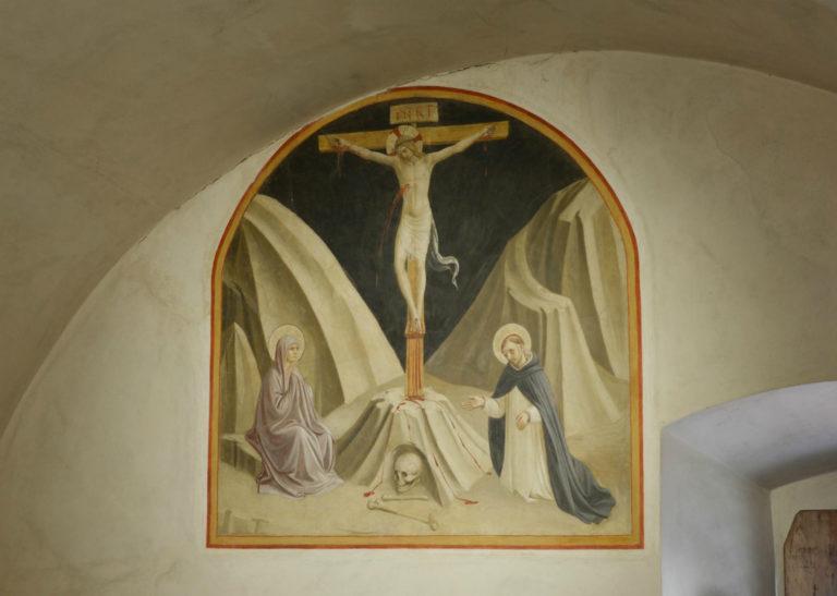 Распятие с Девой Марией и св. Домиником. 1437–1446