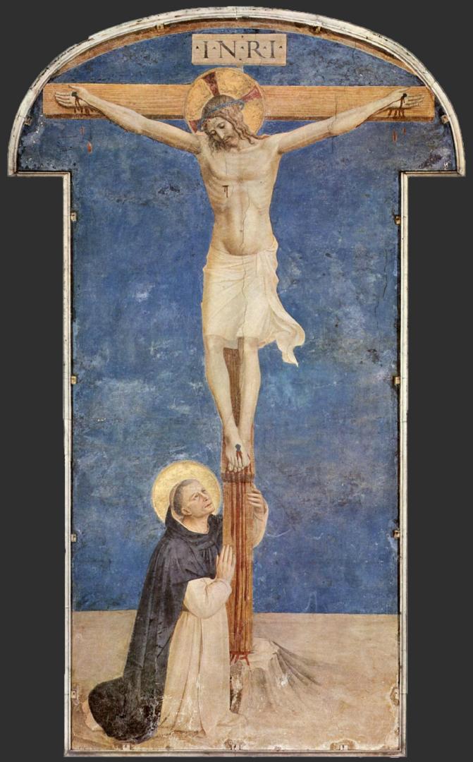 Распятие со св. Домиником. Ок. 1442