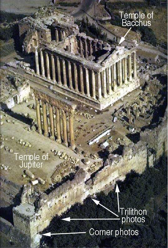 Руины храмового комплекса в Баальбеке