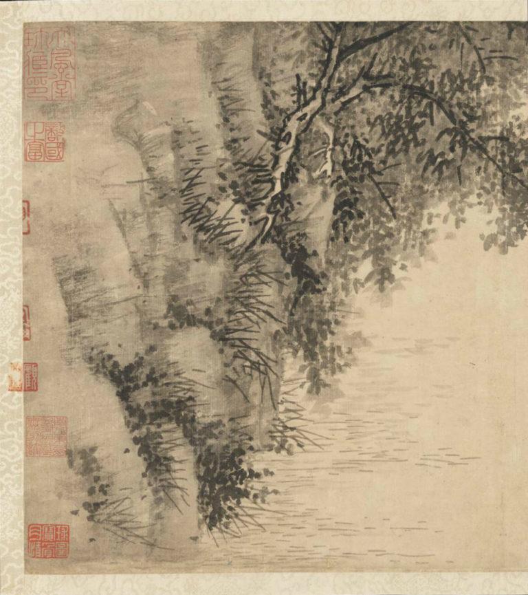 Рыбак. Фрагмент. Китай, ок. 1350