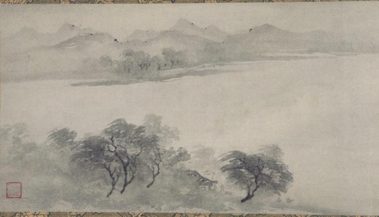 Рыбаки, возвращающиеся от дальнего берега. Фрагмент (левая часть свитка). Китай, XIII в.