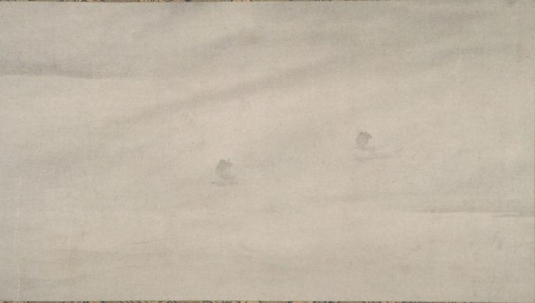 Рыбаки, возвращающиеся от дальнего берега. Фрагмент (правая часть свитка). Китай, XIII в.