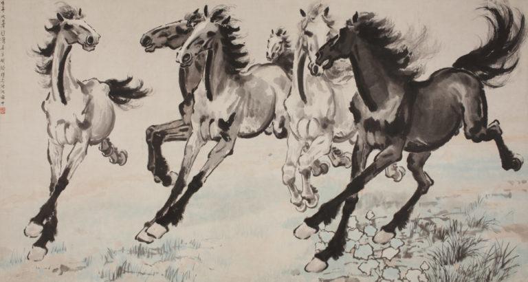 Шесть галопирующих лошадей. 1942