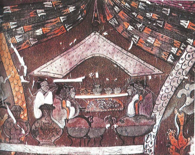 «Штандарт» из захоронения маркизы Дай в Мавандуе. Фрагмент «Кухня». II в. до н.э.