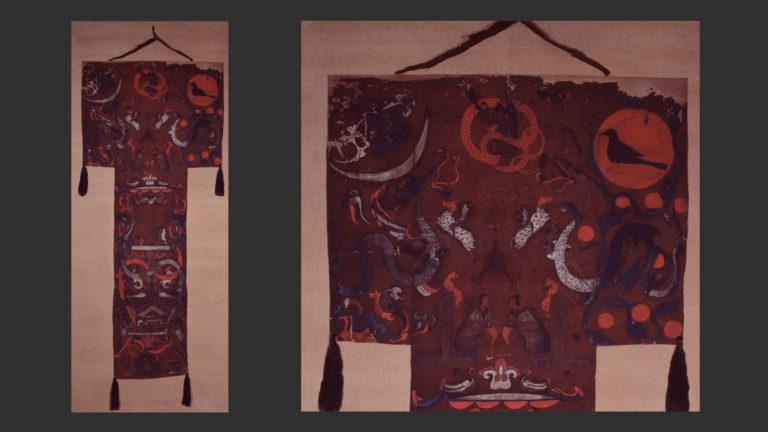 «Штандарт» из захоронения маркизы Дай в Мавандуе. Западная Хань (206 до н. э. – 9 н. э.). 186–168 до н. э.