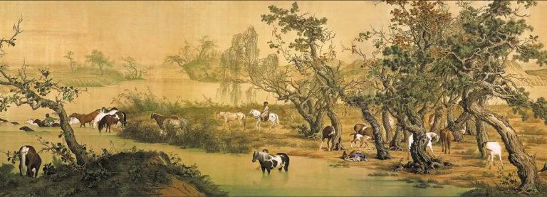 Сто лошадей. Фрагмент. 1735