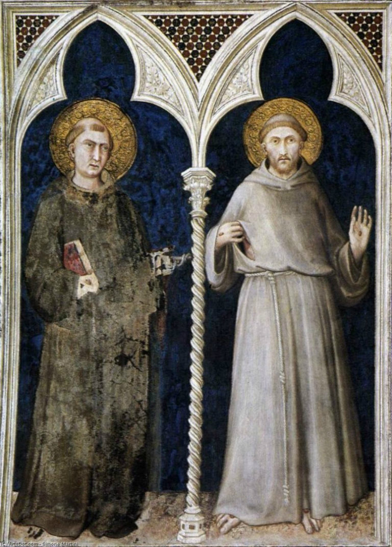 Св. Антоний и св. Франциск. 1313–1318